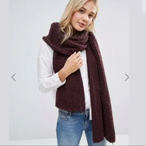Free People Oversized Chunky Knit Wool Scarf